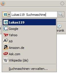 Abbildung Firfox-Suche Plugin Lukas119
